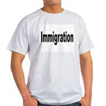 Immigration (Front) Ash Grey T-Shirt