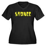Sydnee Faded (Gold) Women's Plus Size V-Neck Dark