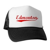 Vintage Edmonton (Red) Trucker Hat