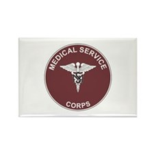 MEDICAL-SERVICE-CORPS Rectangle Magnet (100 pack)