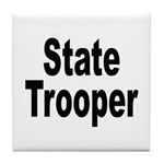 State Trooper Tile Coaster