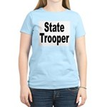 State Trooper (Front) Women's Pink T-Shirt