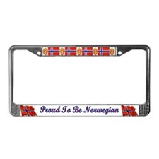 Proud To Be Norwegian License Plate Frame