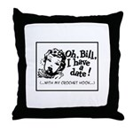 Date with my Crochet Hook Throw Pillow