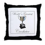 World's Best Crocheter Throw Pillow