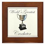 World's Best Crocheter Framed Tile