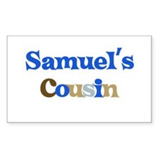 Samuel's Cousin Rectangle Decal