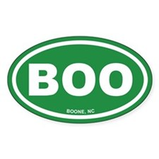 BOO Boone, NC Euro Green Oval Sticker (50 pk)