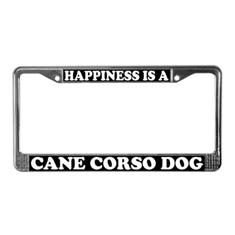 Happiness Is A Cane Corso License Plate Frame