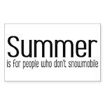 Summer... snowmobile Rectangle Sticker
