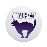 Attack Cat Keepsake (Round)