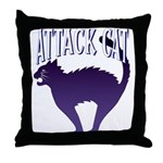 Attack Cat Throw Pillow