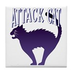 Attack Cat Tile Coaster