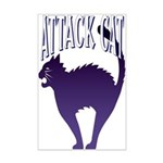 Attack Cat Mini Poster Print