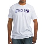 Attack Cat Fitted T-Shirt