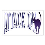 Attack Cat Rectangle Sticker