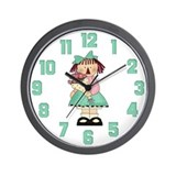 Girl with Flowers Wall Clock