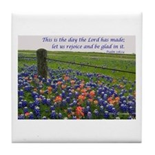 This is the day...Blue Bonnets Tile Coaster