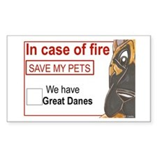 CFface Fire Rescue Rectangle Sticker 50 pk)