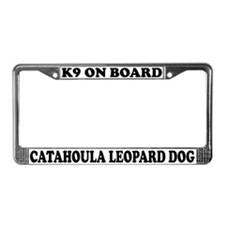 Catahoula Leopard Dog On Board License Plate Frame