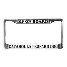 Catahoula Leopard Dog On Board License Plate Frame