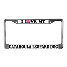 I Love Catahoula Leopard Dog License Plate Frame
