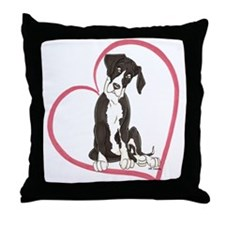 NMtl Heart Pup Throw Pillow
