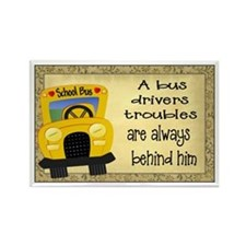 School Bus Driver Rectangle Magnet