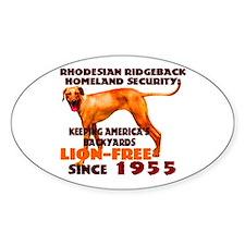 Ridgeback Security Oval Decal