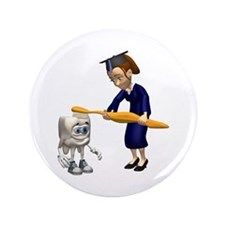 "Dental Hygiene Graduation 3.5"" Button (100 pack)"