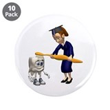 "Dental Hygiene Graduation 3.5"" Button (10 pack)"
