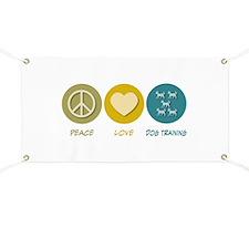 Peace Love Dog Training Banner