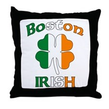 Boston Irish Throw Pillow