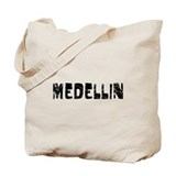 Medellin Faded (Black) Tote Bag