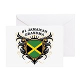 Number One Jamaican Grandma Greeting Card