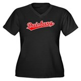 Retro Duisburg (Red) Women's Plus Size V-Neck Dark