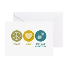 Peace Love Diet and Nutrition Greeting Card