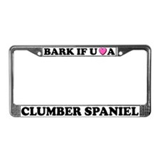 Bark You Love Clumber Spaniel License Plate Frame