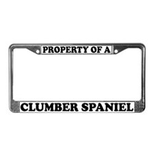 Property Of A Clumber Spaniel License Plate Frame