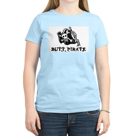 Butt Pirate Womens Pink T-Shirt
