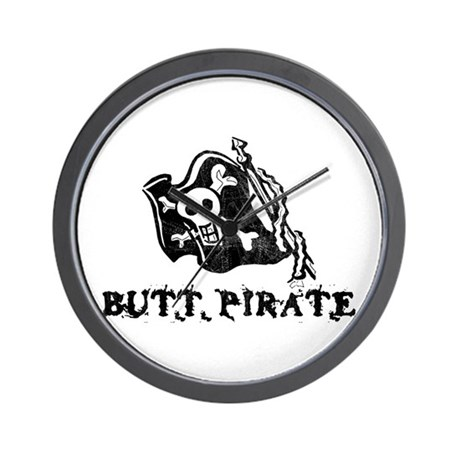 Butt Pirate Wall Clock
