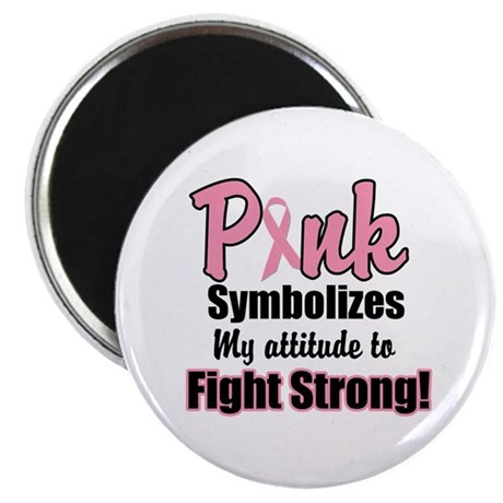 Pink Ribbon Fight Strong Magnet