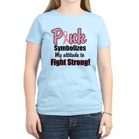 Pink Ribbon Fight Strong Women's Light T-Shirt