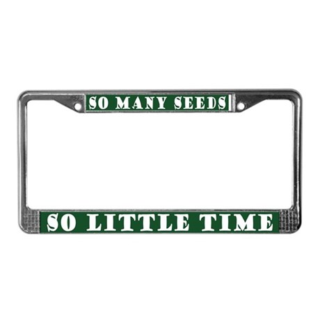 Funny Garden Quote License Plate Frame