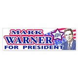 Mark Warner 2008 Bumper Bumper Sticker