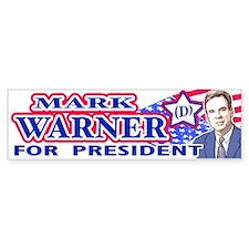 Mark Warner 2008 Bumper Bumper Sticker