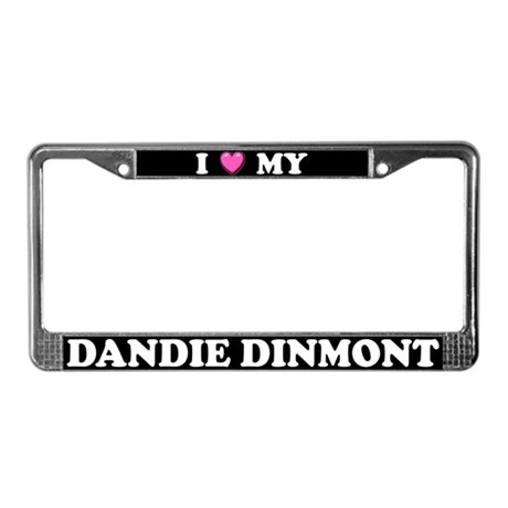 I Heart My Dandie Dinmont License Plate Frame