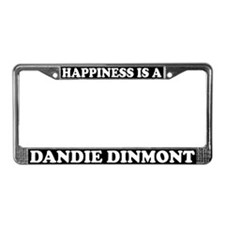 Happiness Is A Dandie Dinmont License Plate Frame