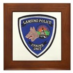 Lansing PD Canine Framed Tile