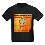 Scratch Off And Win Whatever Kids Dark T-Shirt